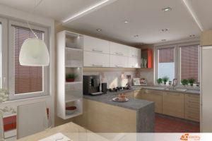 Rekonstrukce kuchyně v paneláku 3+1