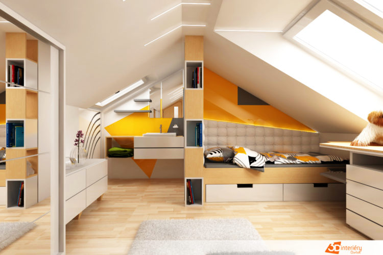 Designer – bytový pokoj pro teenagera Praha