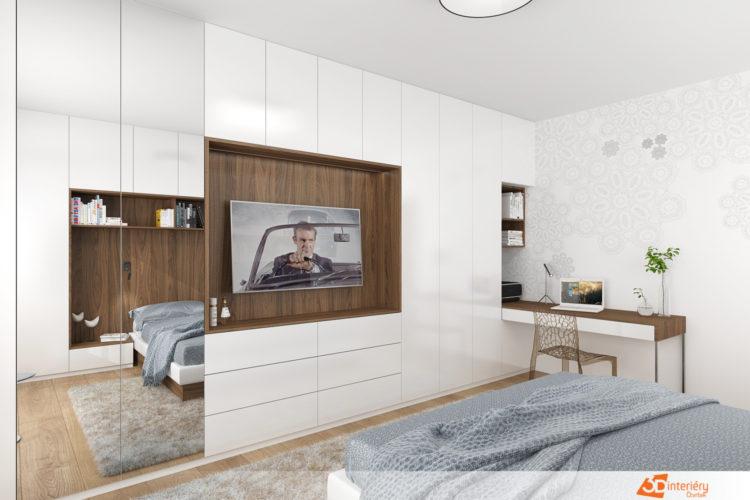 Ložnice s pracovnou v Ostrava