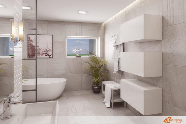 Koupelna s dvěmi umyvadly