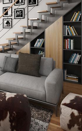 Obývací pokoje 3D interiéry Čtvrtek