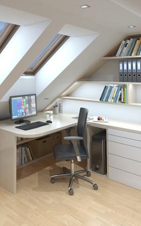 Pracovny 3D interiéry Čtvrtek