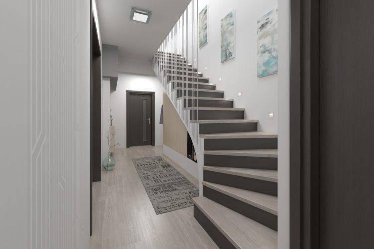 Návrh prostorné chodby