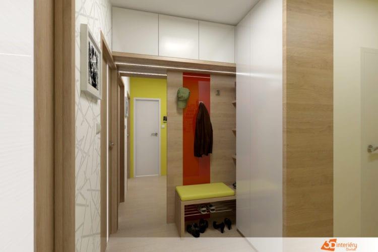 Návrh předsíně byt 3+1 Ostrava
