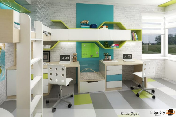 Nadčasovost dětského pokoje pro školáky