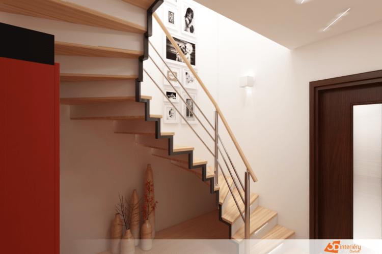Návrh interiéru schodiště