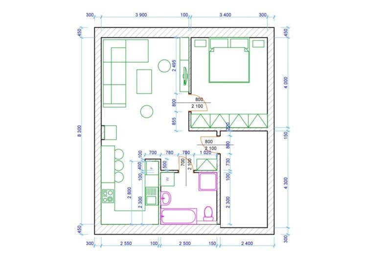 Rekonstrukce jádra v bytě 2+k
