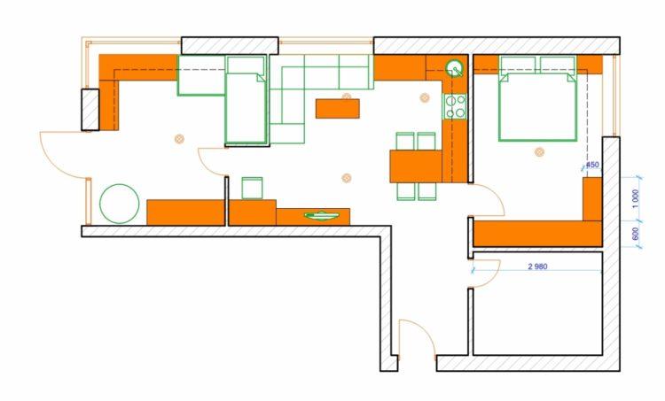 Rekonstrukce bytového jádra 3+1