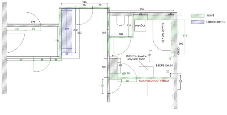 Rekonstrukce jadra – koupelny