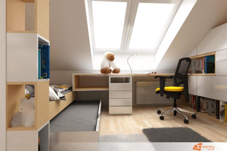 Designer – bytový pokoj pro teenagera Praha 3