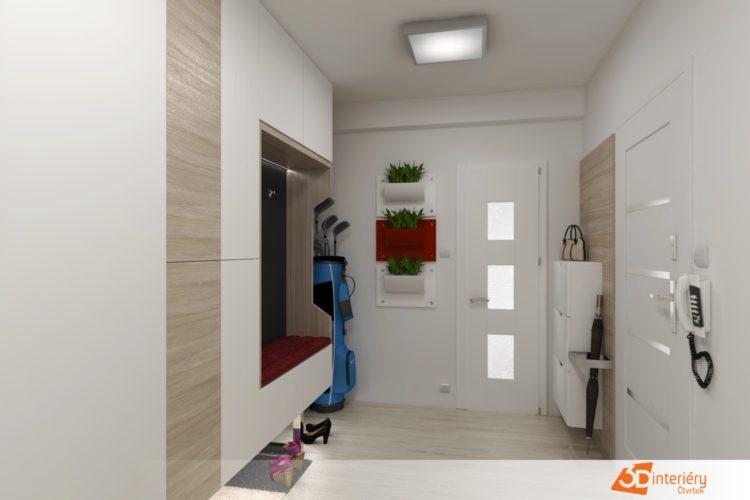 Předsíň – rekonstrukce bytu 2+1