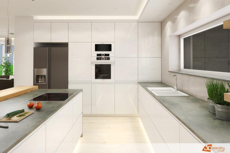 Návrh kuchyně a obývacího pokoje – Tišnov – Drásov