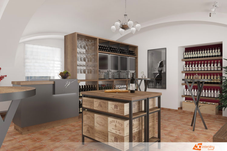 Návrh vinotéky – prodejna vína