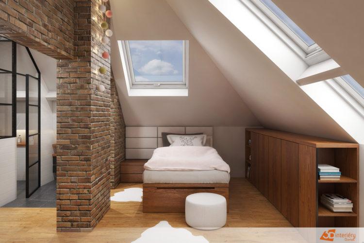Bytový design – podkroví Kladno