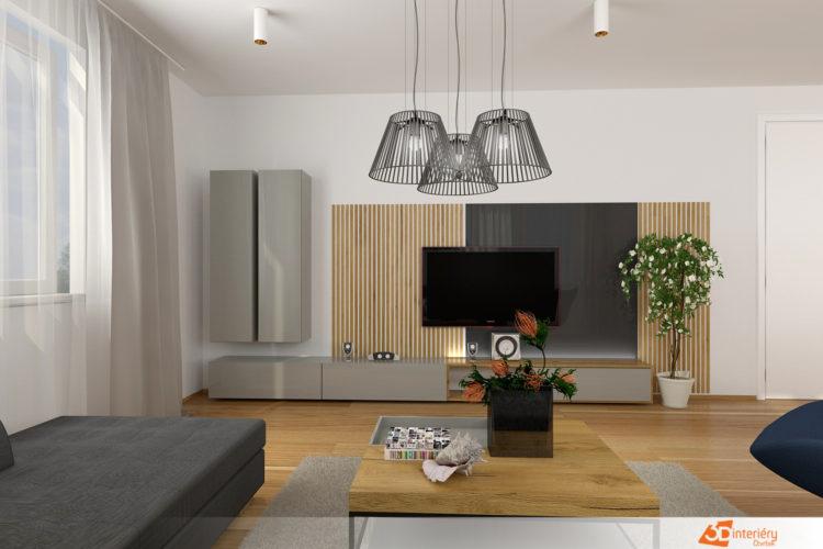 Bytový design – obývák Brandýs nad Labem