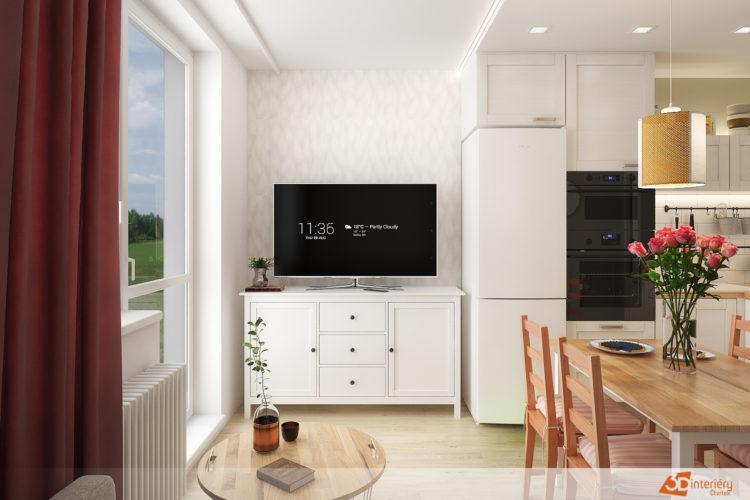 Interiér panelového bytu v Brně
